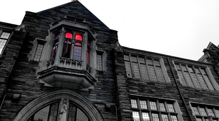 circus arts haunted mansion exterior