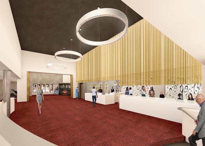 The Philadelphia Film Center lobby