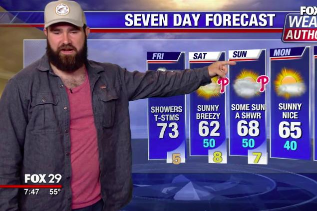 Jason Kelce weather FOX29