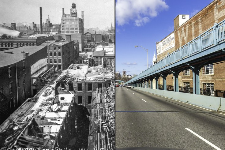 Then And Now Photos Show History Of Ben Franklin Bridge