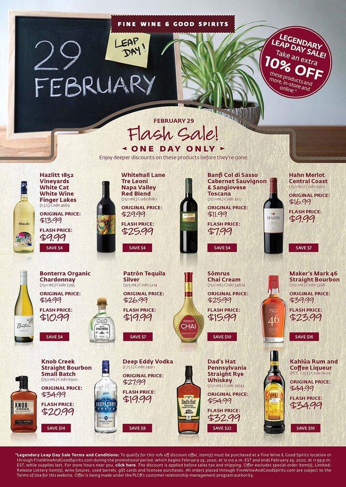 Liquor Sale PA Leap