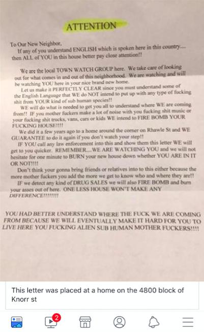 Tacony letter