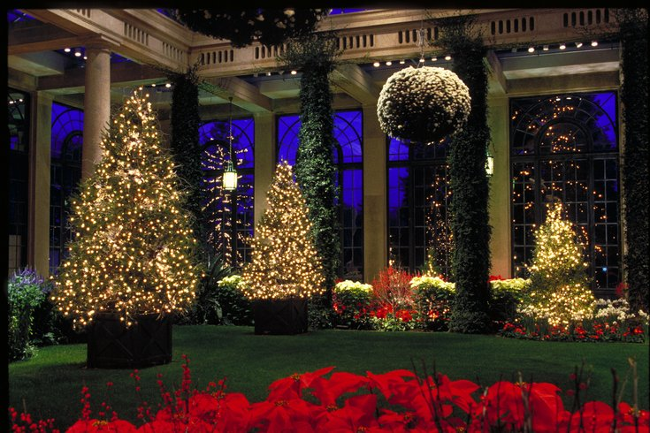 Longwood Gardens Christmas.Longwood Gardens Christmas Light Show Phillyvoice