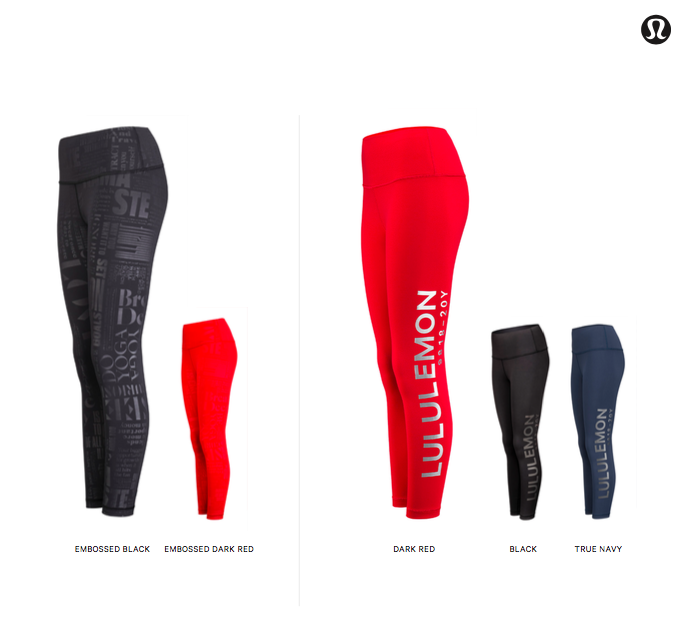 Lululemon 9818-20Y collection