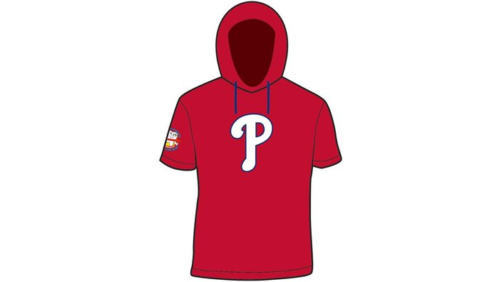Phillies short sleeve hoodie giveaway