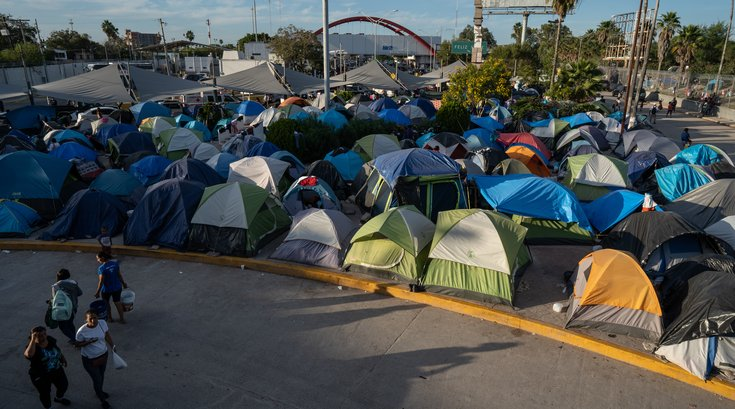 Matamoros Mexico refugee camp
