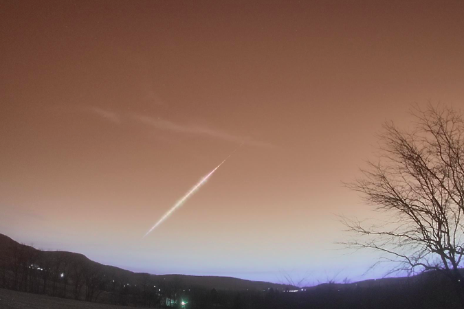 Video shows fireball spotted by witnesses in Lehigh Valley