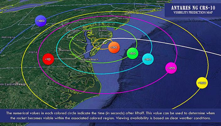 Map NASA visibility