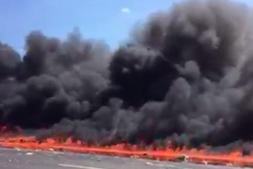 Fiery tanker truck crash causes major delays on NJ Turnpike