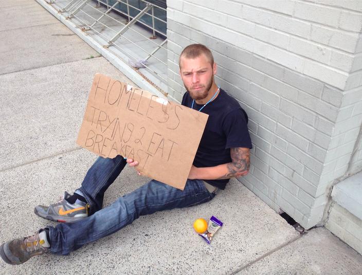 Homeless at Popefest