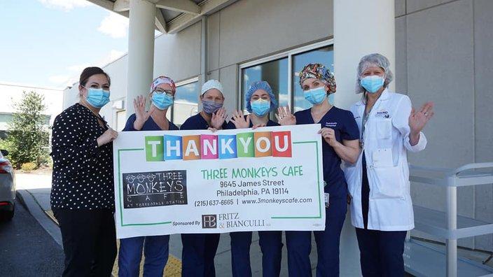 Limited - Fritz & Bianculli Nazareth Hospital thanking Three Monkeys Cafe