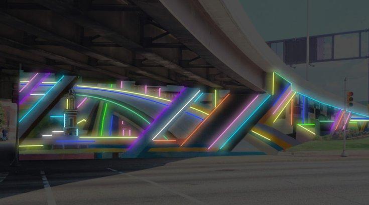 Neon mural 676