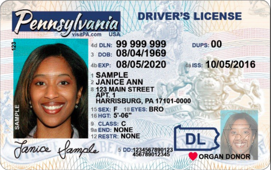 Pennsylvania Drivers License New Design