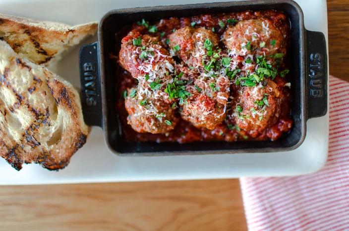 Meatballs at North Italia, opening in King of Prussia