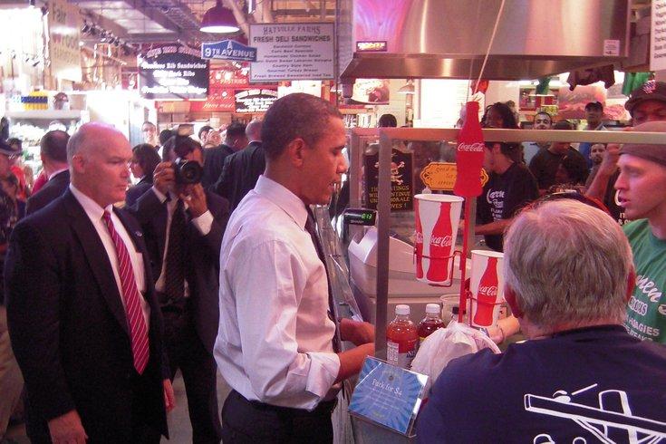 Obama at Reading Terminal Market