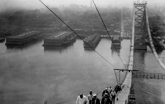Ben Franklin Bridge construction 13