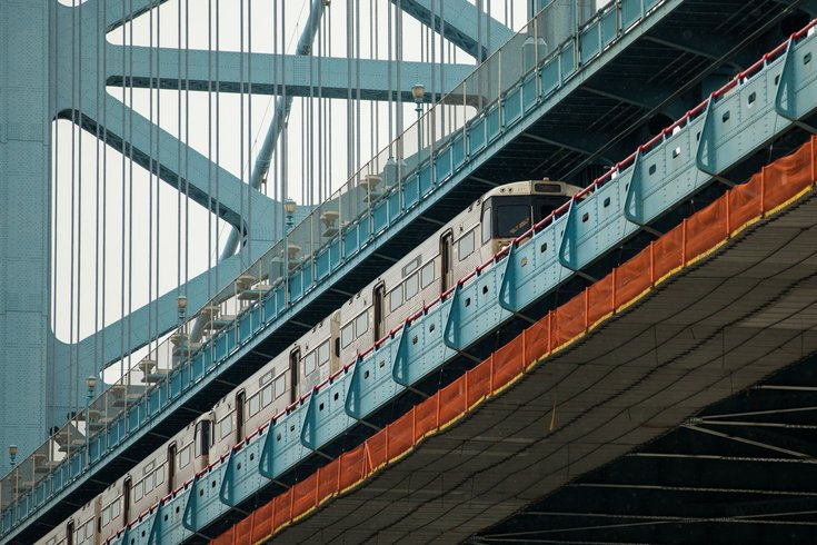Patco Train Breaks Down On Ben Franklin Inspires Scenic Photos Of Delaware River Phillyvoice