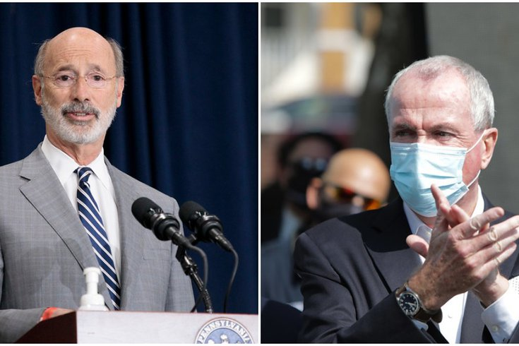 Pennsylvania New Jersey Tom Wolf Phil Murphy
