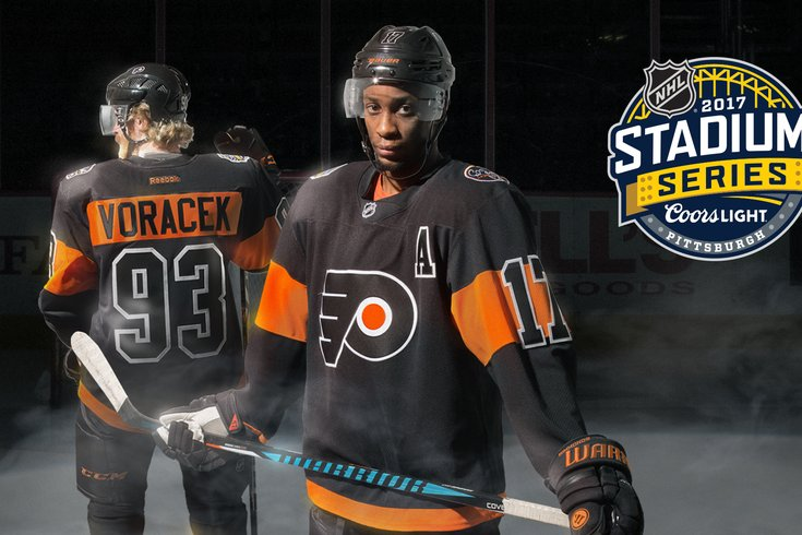 32e2696b9 Flyers Philadelphia Flyers Contributed Art. These are the jerseys the Flyers  will wear for their outdoor ...