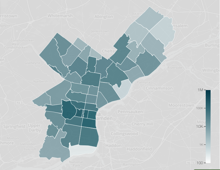 City Of Philadelphia Zip Code Map.City Releases Staggering Data On Parking Violations Phillyvoice