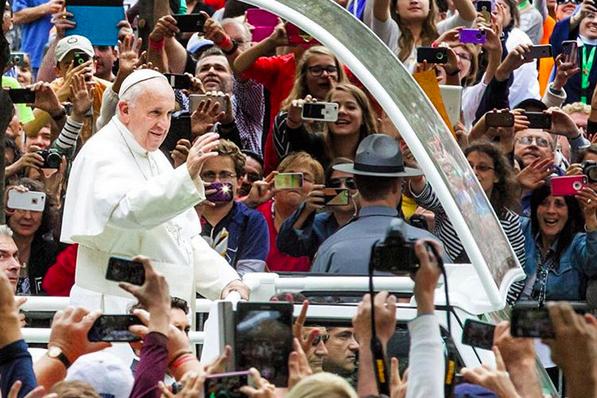 Pope Francis in Popemobile