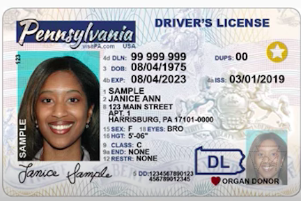 REAL ID penndot card