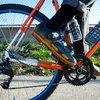 Cycling orange bike