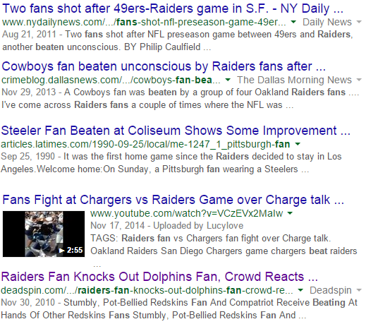 Raiders Google