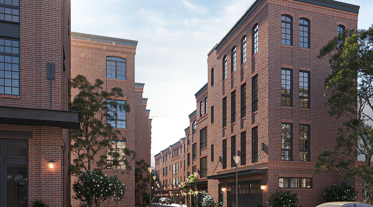 Limited - Rendering - Exterior - Townhomes from 24th