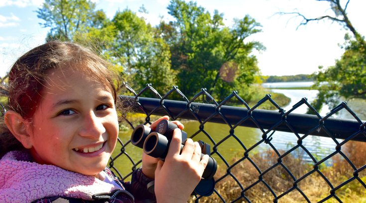 Limited - AWE - Young girl overlooks the Delaware River
