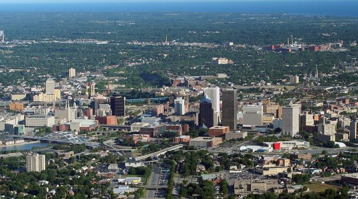 Aerial photo of Rochester