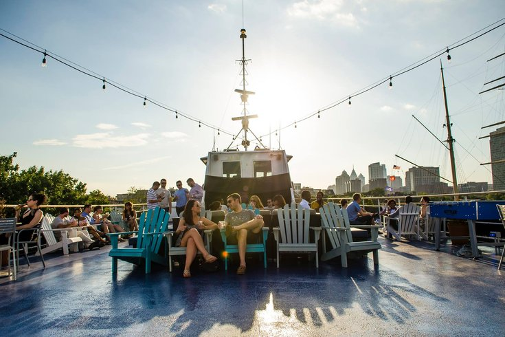 Roof deck of the Spirit of Philadelphia