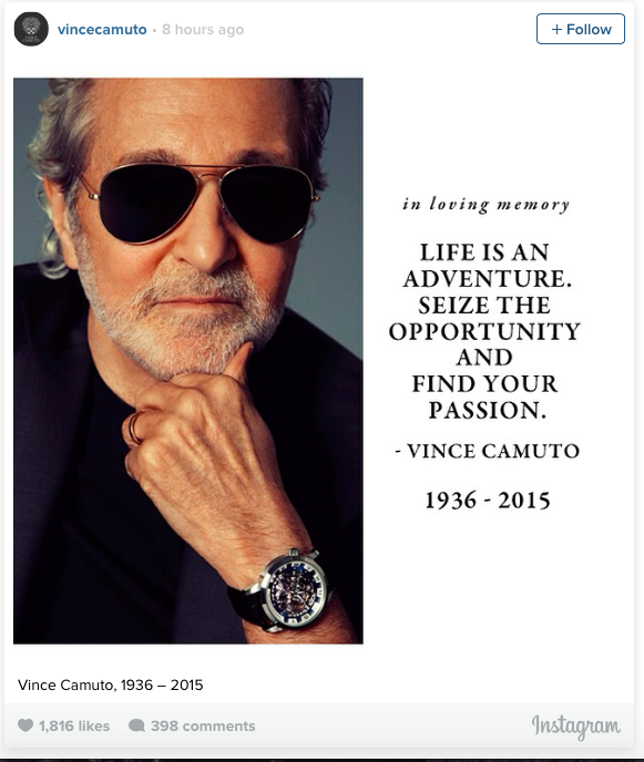 Vince Camuto died