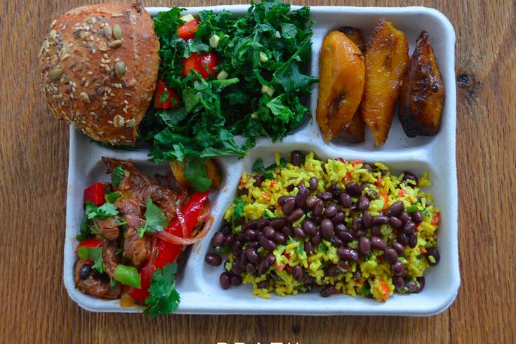 Typical school lunch in Brazil