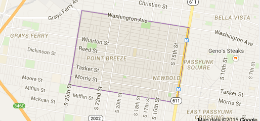 Map of Point Breeze