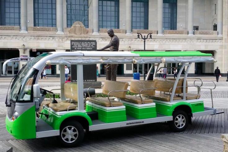 atlantic city boardwalk debuts electric tram service phillyvoice