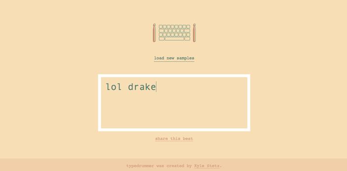 Lol Drake typedrummer