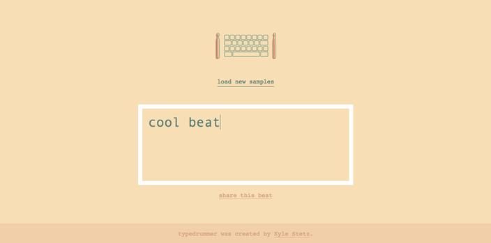 Cool beat typedrummer