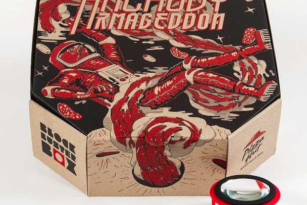 Pizza Hut Movie Projector box