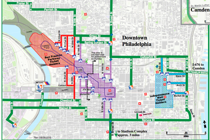 Downtown Philly Map on
