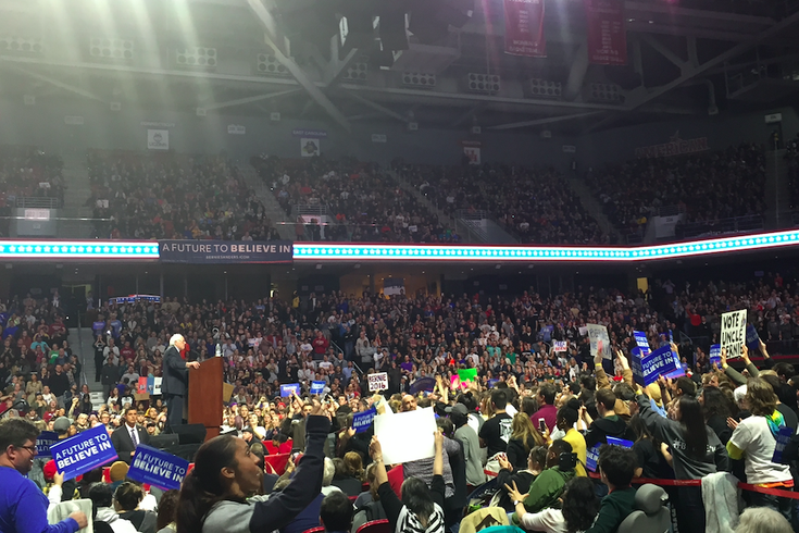 Bernie Sanders at Temple U.