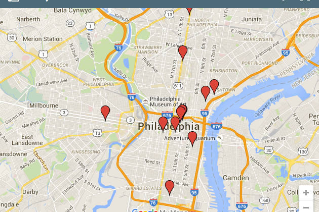 map of south philadelphia Philly Foodporn Debuts Interactive Working Map Of City S Best map of south philadelphia