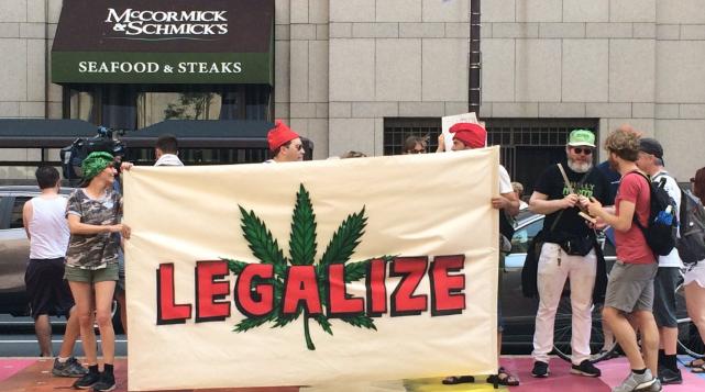 Marijuana activists protest DNC