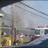 SEPTA train on fire
