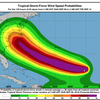 Florence wind speed map