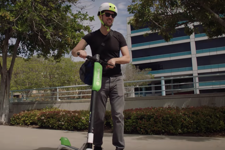 Lime scooter boy