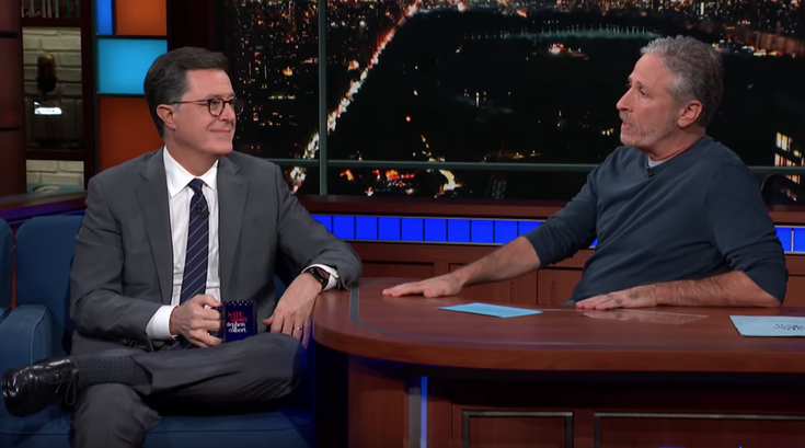 Jon Stewart takes over 'Late Show with Stephen Colbert'