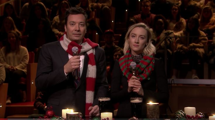 """Saoirse Ronan appears on """"The Tonight Show"""""""