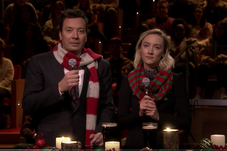 "Saoirse Ronan appears on ""The Tonight Show"""