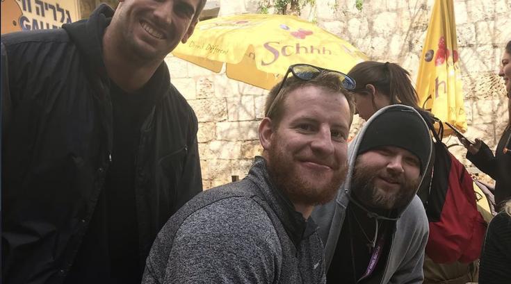 Carson Wentz in Israel